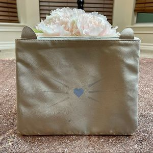 Make-up, Toiletry and Clutch Light Gray Bag